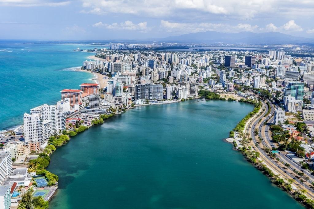 Condado-Bucht in Puerto Rico