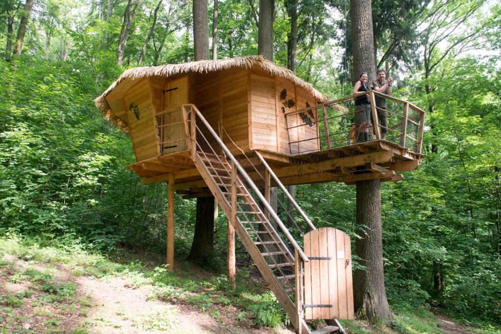 Holzhütte in Bratislava