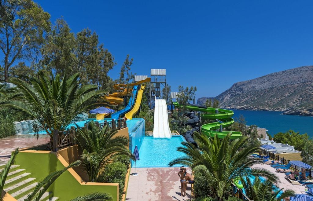 Fodele Beach & Water Park Holiday Resort Kreta Wasserrutsche
