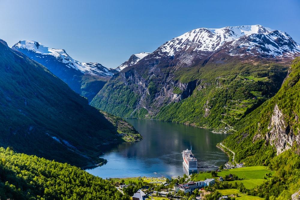 Kreuzfahrt im Geirangerfjord in Norwegen