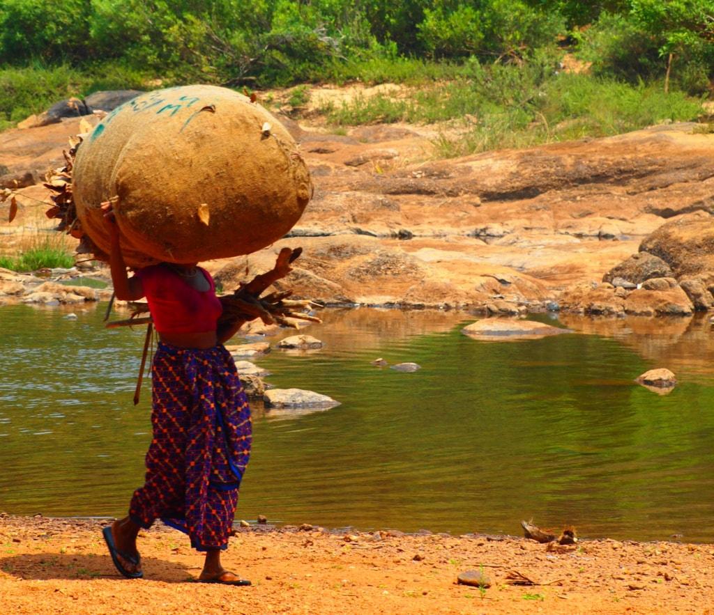 Frau auf Farm in Kerala - Indien