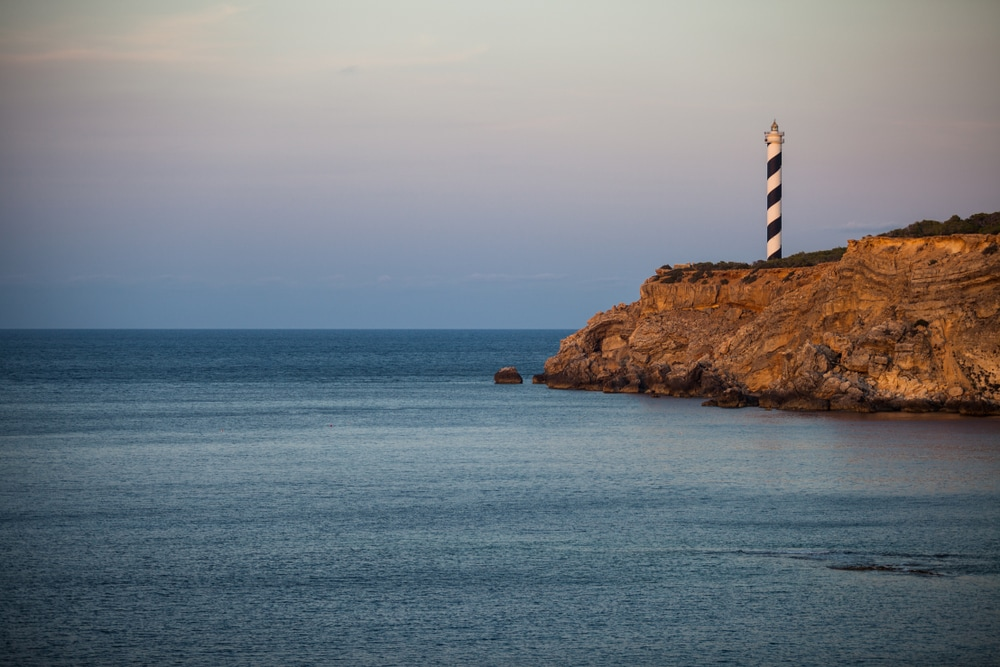 Leuchtturm Far del Moscarter auf Ibiza Portinatx