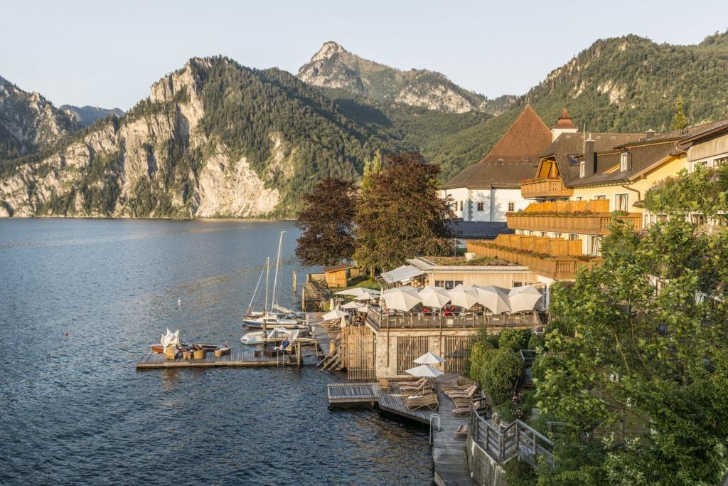 Haus am See in Österreich: Seehotel das Traunsee