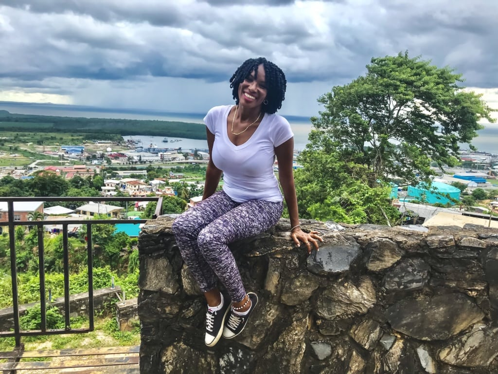 Fremdenführerin Cheri-ann in Trinidad