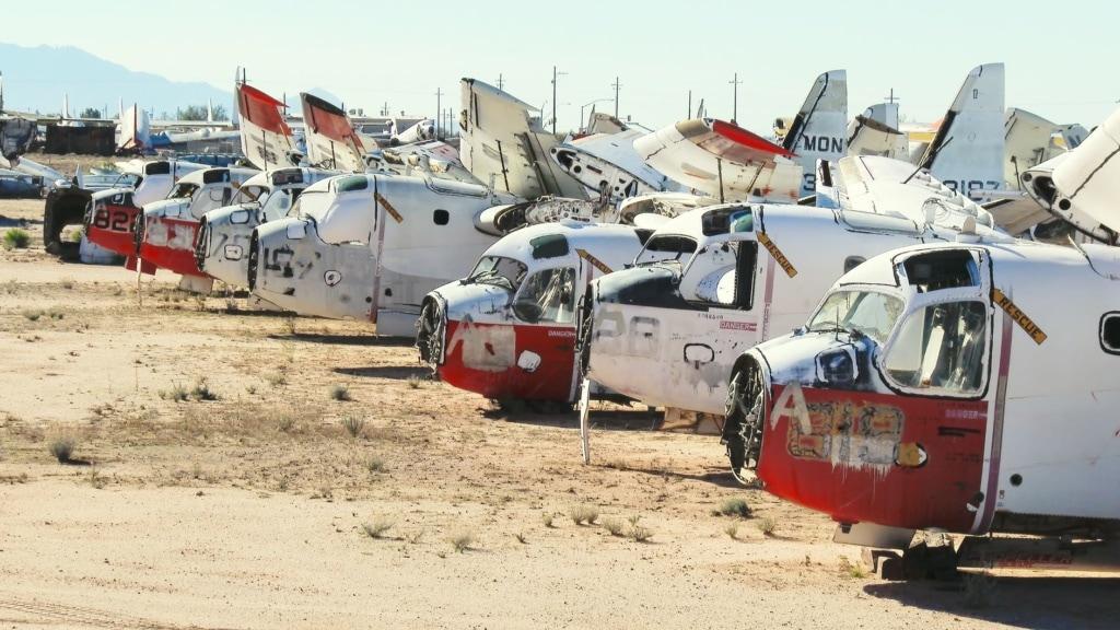 Ausrangierte Militärflugzeuge auf dem Airport-Friedhof Boneyard