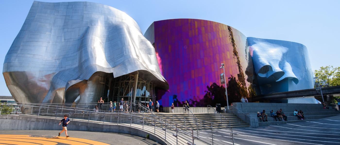 Das Museum der Popkultur in Seattle ist nicht zu übersehen.