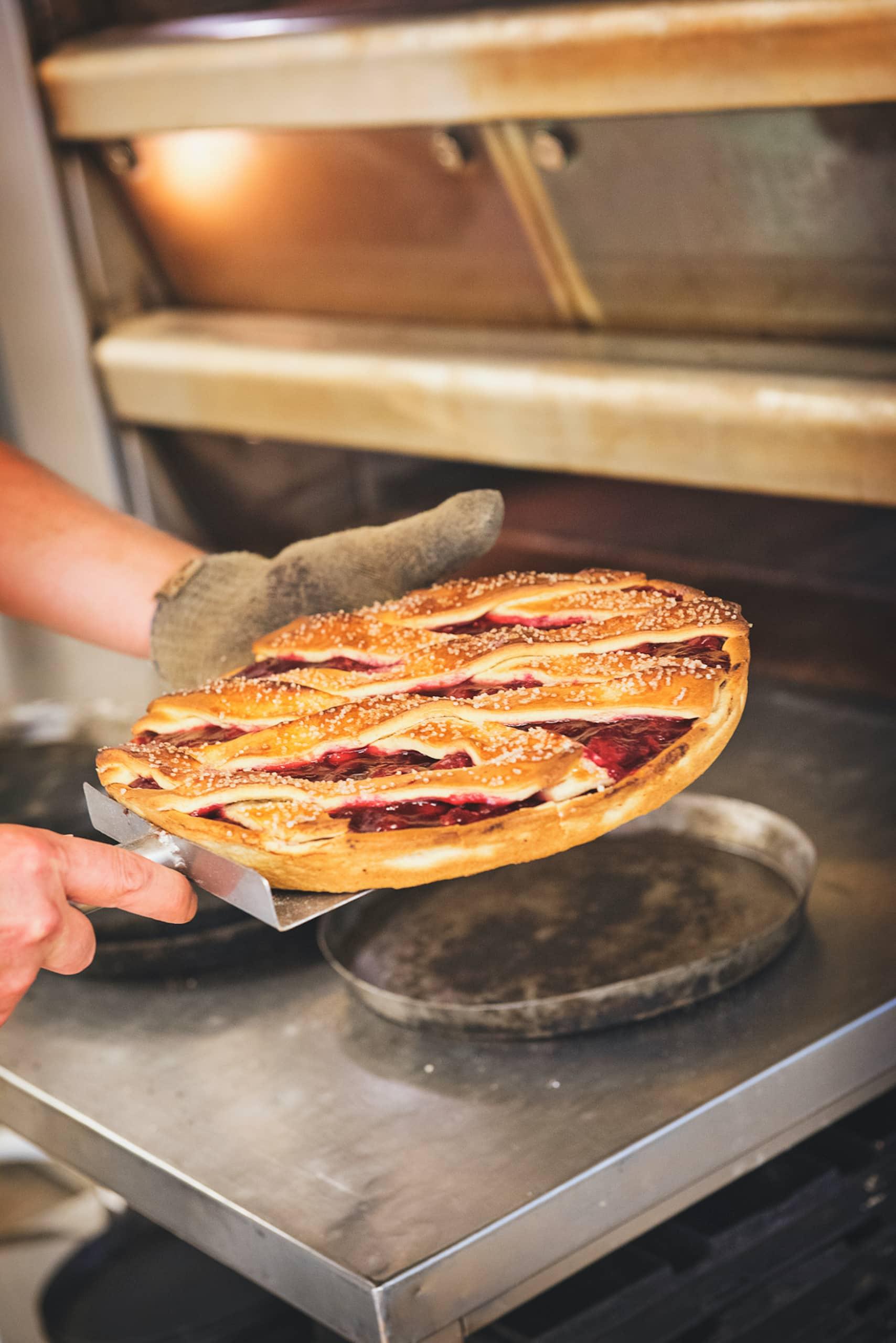 Vlai ist ein typischer Kuchen der in der Bishopsmolen in Maastricht gebacken wird