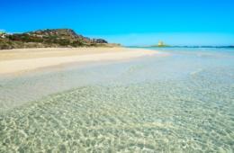 Strand an der Westküste Sardiniens: La Pelosa