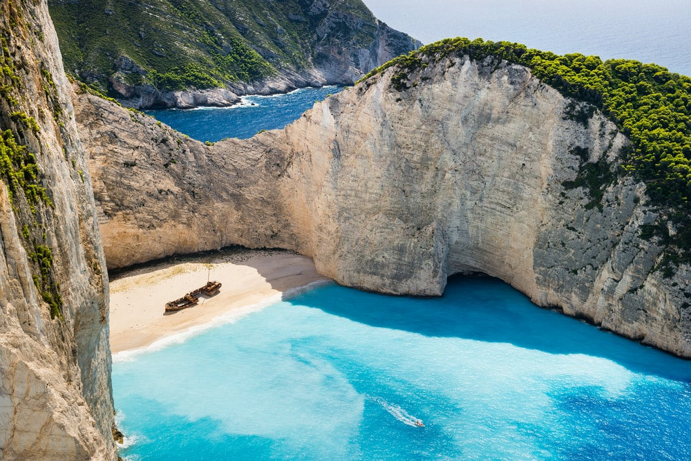 Navagio Beach in Griechenland