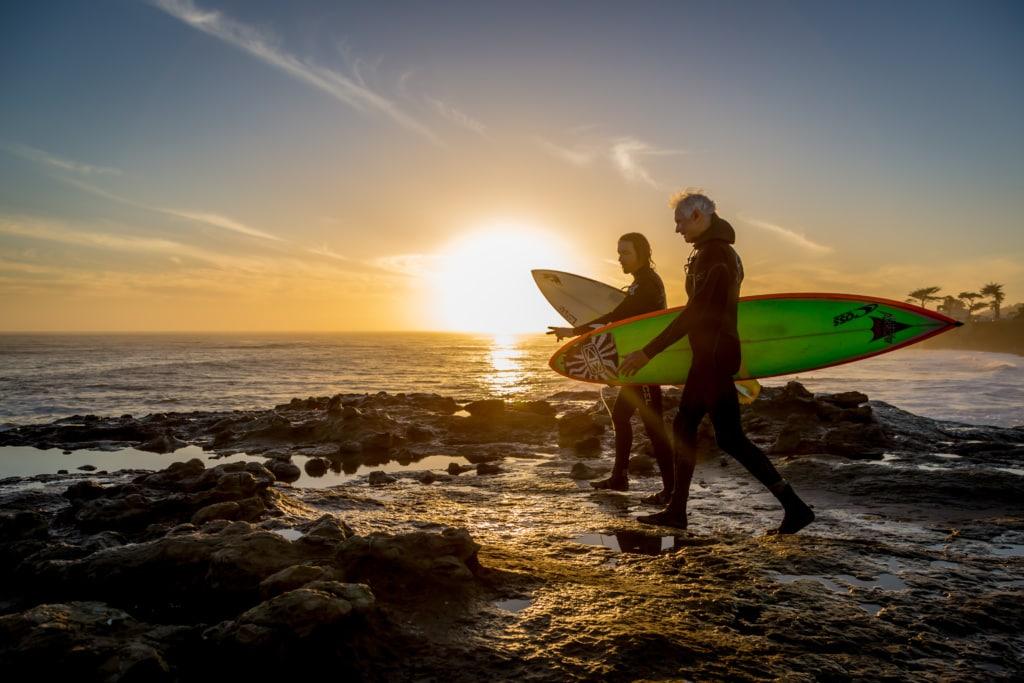 Santa Cruz ist einer der Geburtsorte des Wellenreitens.