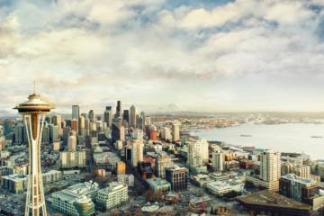 Seattle aus der Vogelperspektive