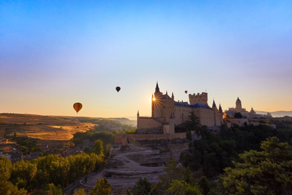 Die Alcazar-Festung in Segovia zählt als eine der schönsten Burgen Spaniens.