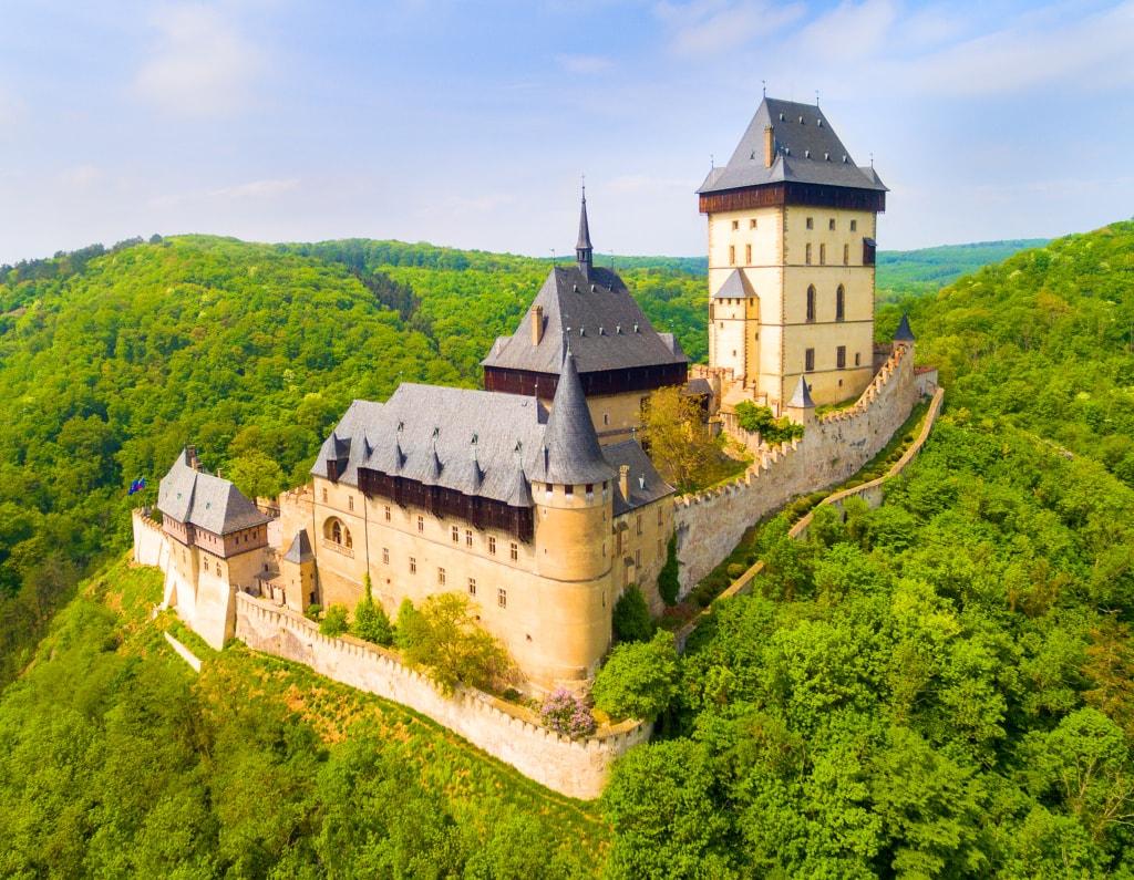 Die Burg Karsten war eins das Schatzlager für Karl IV.