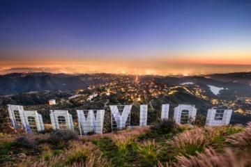 Blick von Hollywood auf Los Angeles von oben