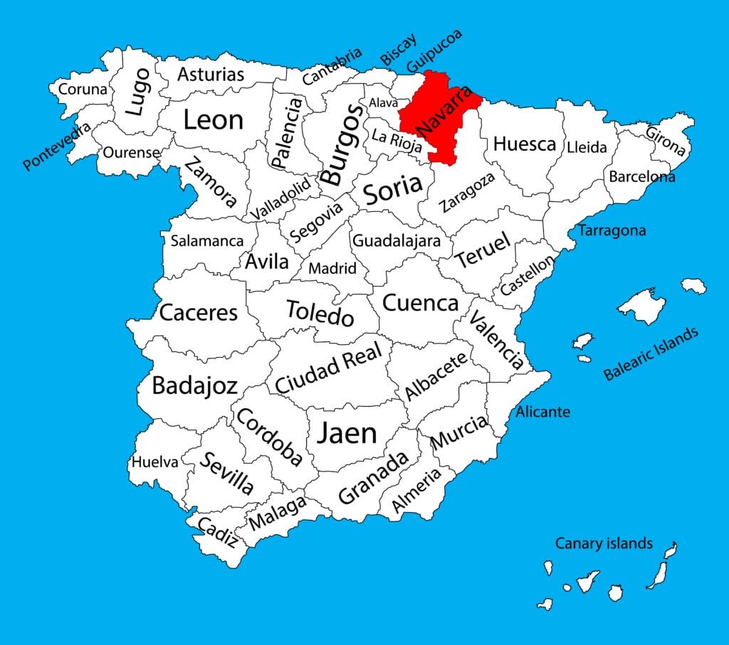 Navarra auf Karte Spaniens