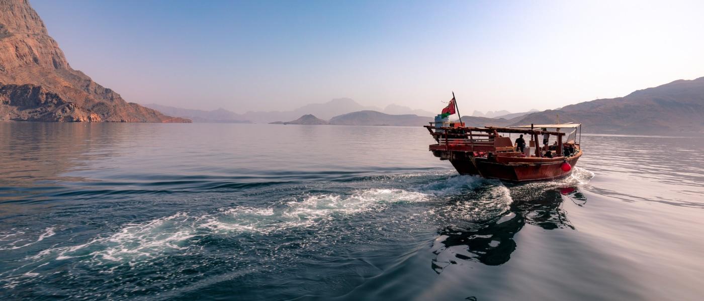 Boot im Oman