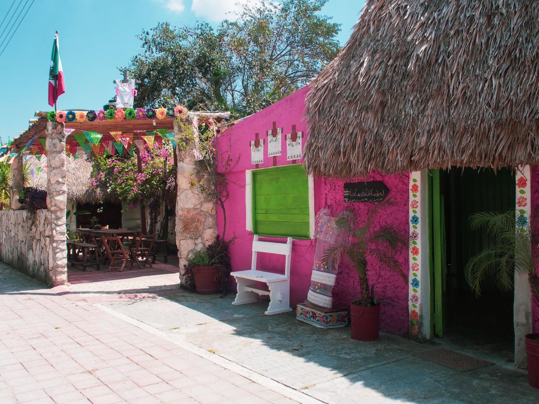 Mexikanische Hütte auf der Isla Cozumel