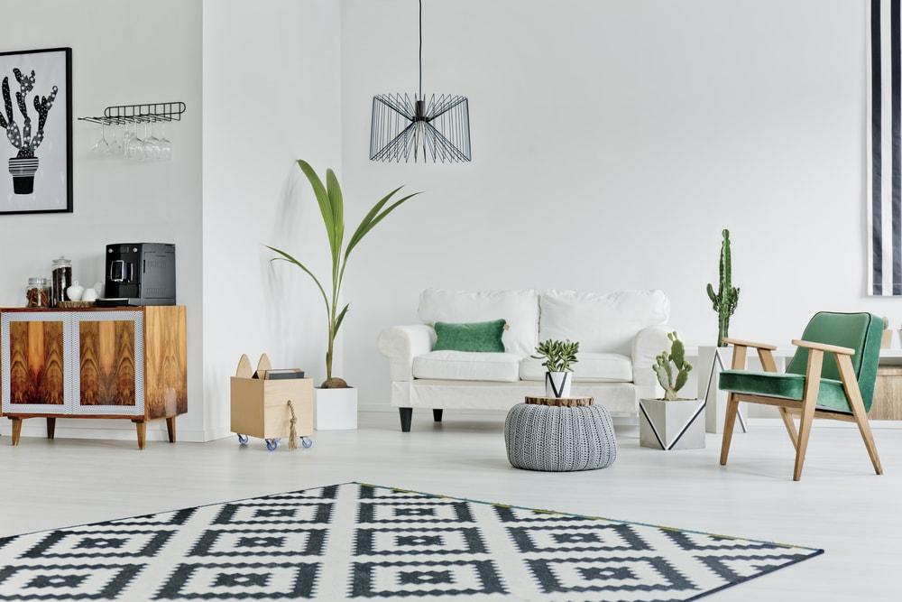 klinische Wohnung mit tollem Interior
