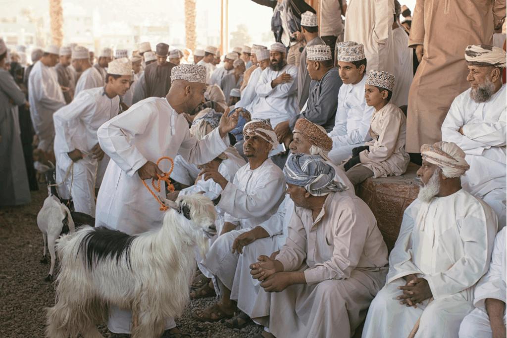 Nizwa-Ziegenmarkt im Oman
