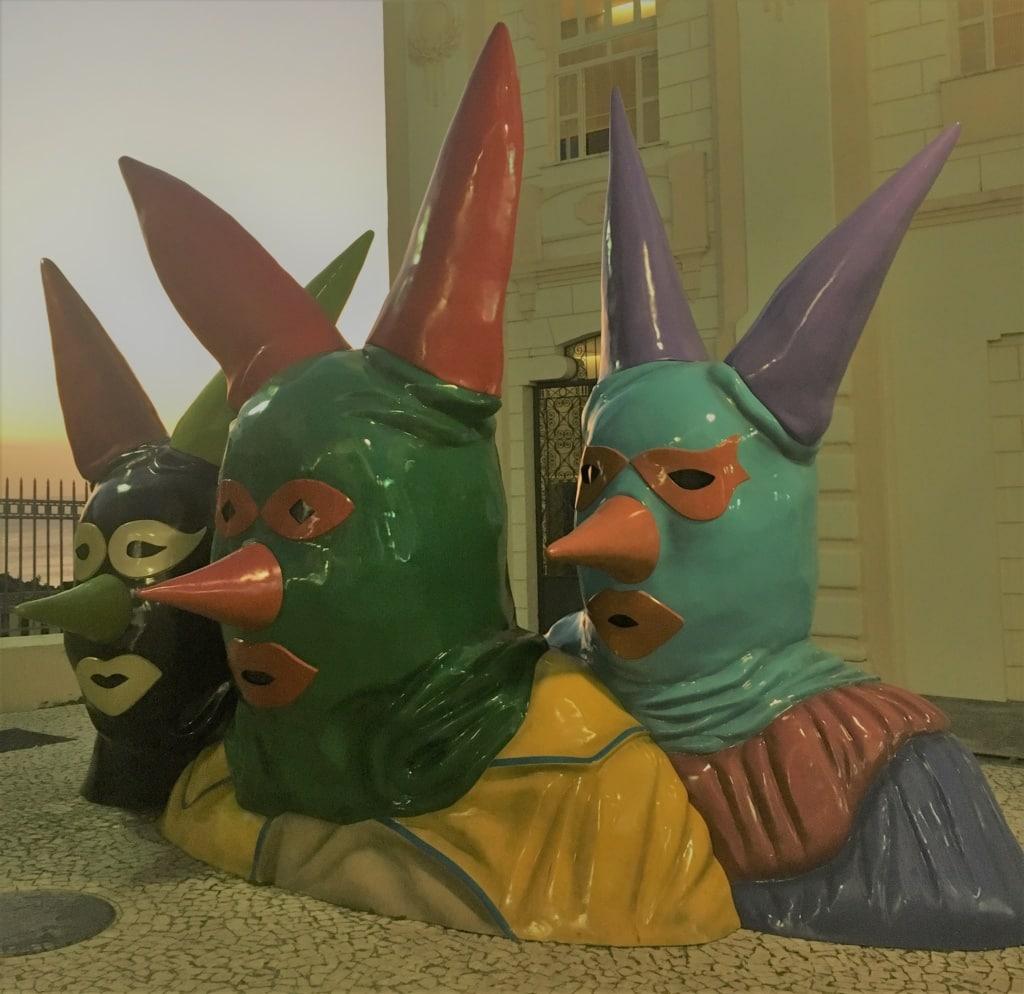 Skulpturen am Plano Inclinado Gonçalves