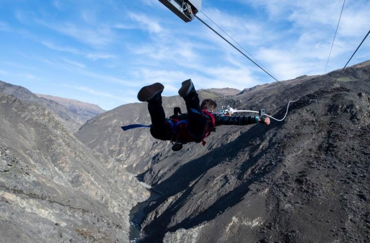 Waghalsige vor bei der neuesten Attraktion in Neuseelands Abenteuer-Stadt Queenstown.