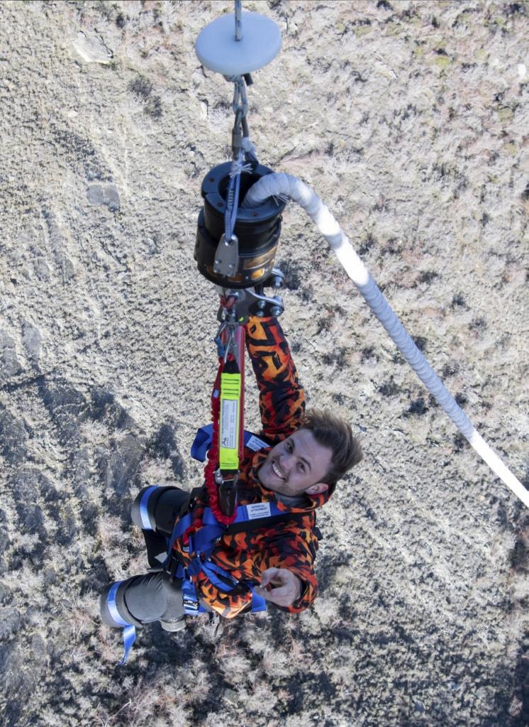 Erleichterung pur - wer das Nevis Catapult in Neuseeland bewältigt hat, dem kann man in Sachen Adrenalin erstmal nicht soviel vormachen.