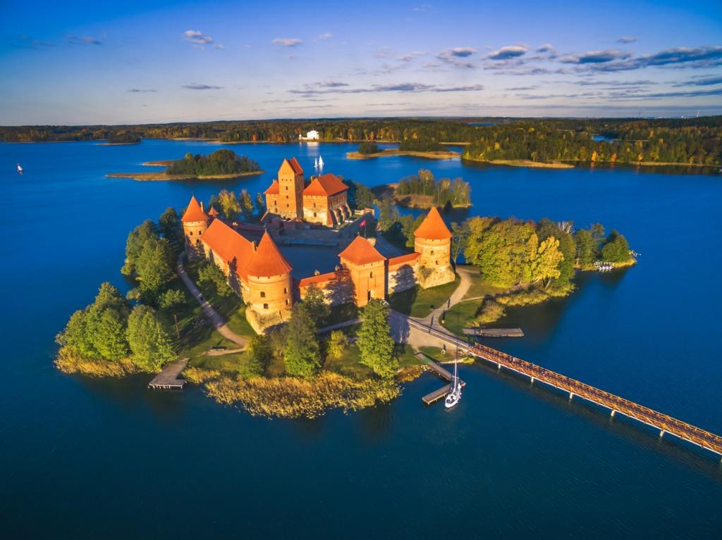 Die Wasserburg von Trakai wurde zum Wahrzeichen Litauens.