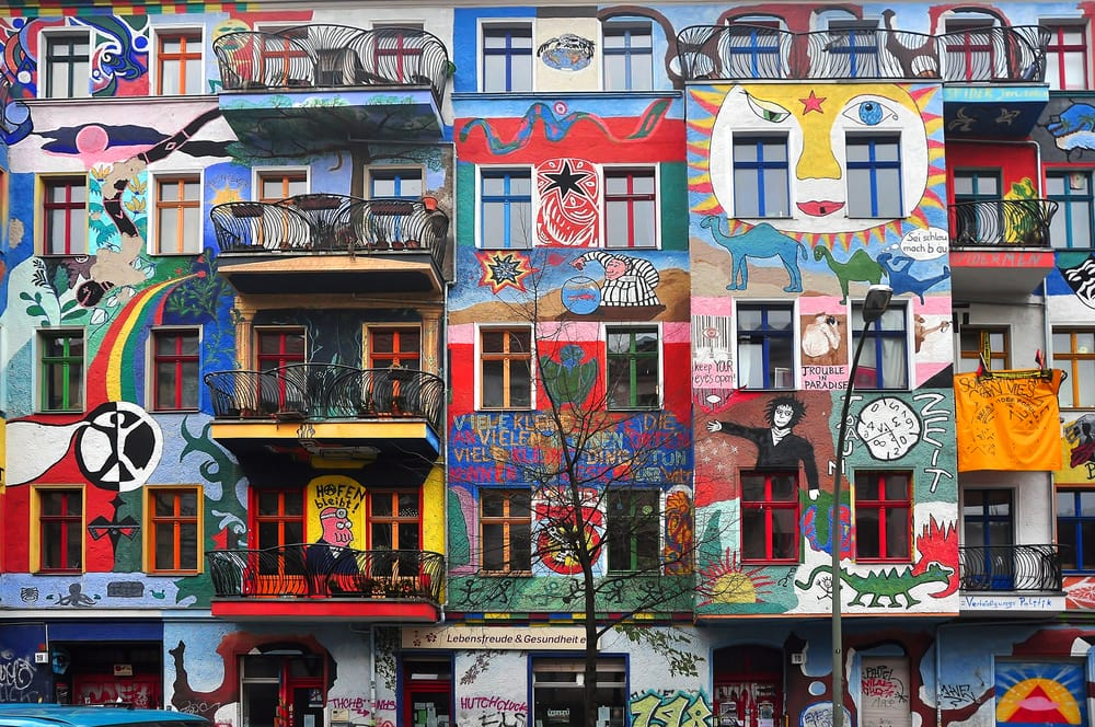 Buntes Graffiti Haus in Berlin