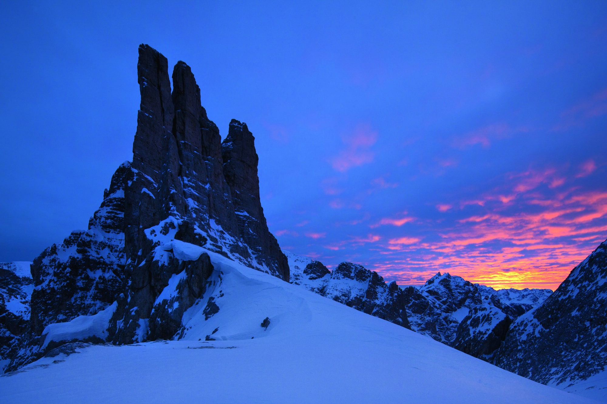Vajolettürme inden Dolomiten in Italien