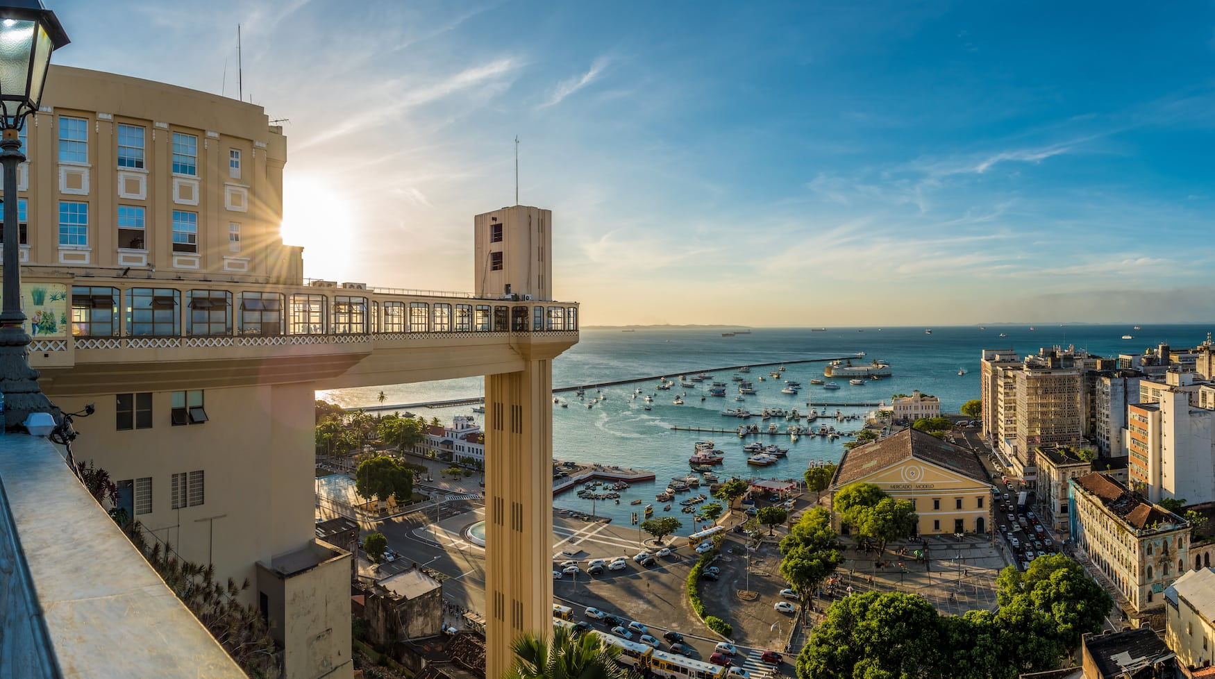 Aufzug Lacerda in Salvador da Bahia, der die Ober- und Unterstadt miteinander verbindet