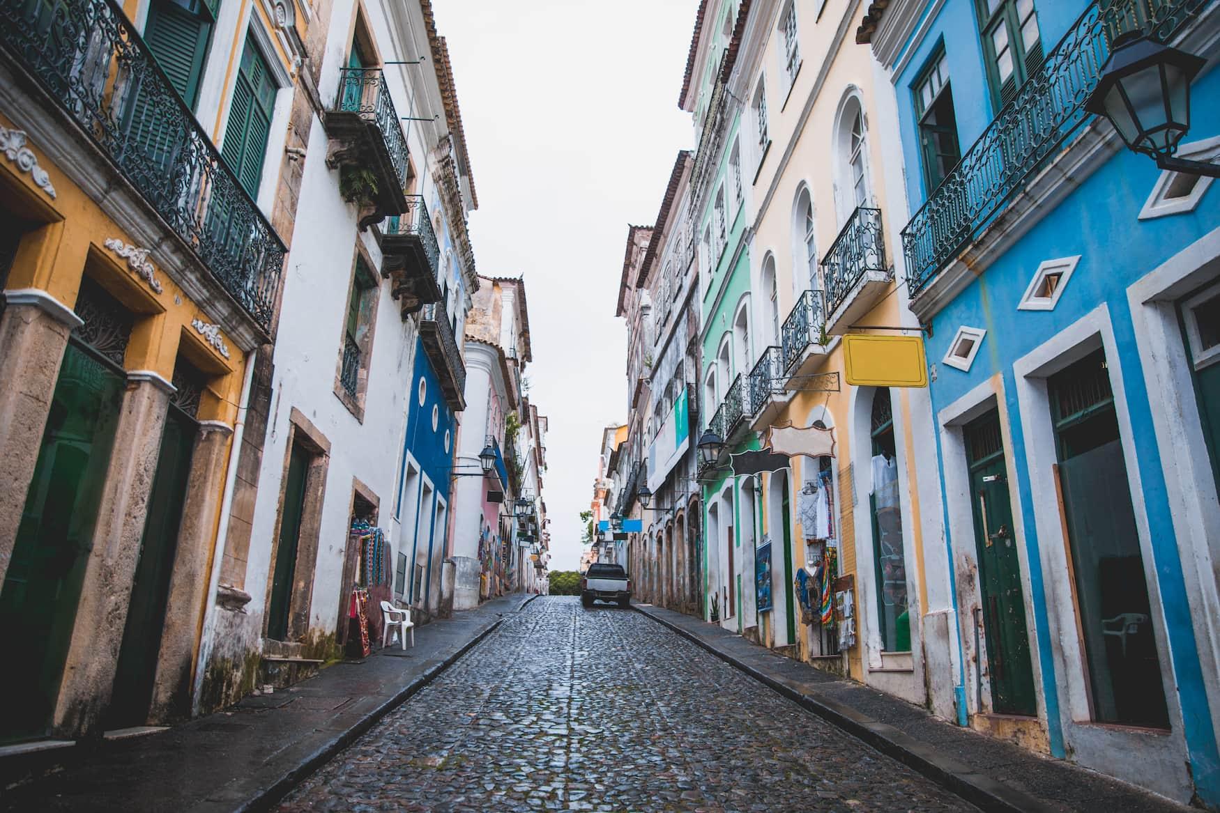 Straßen im Viertel von Pelourinho in Salvador da Bahia
