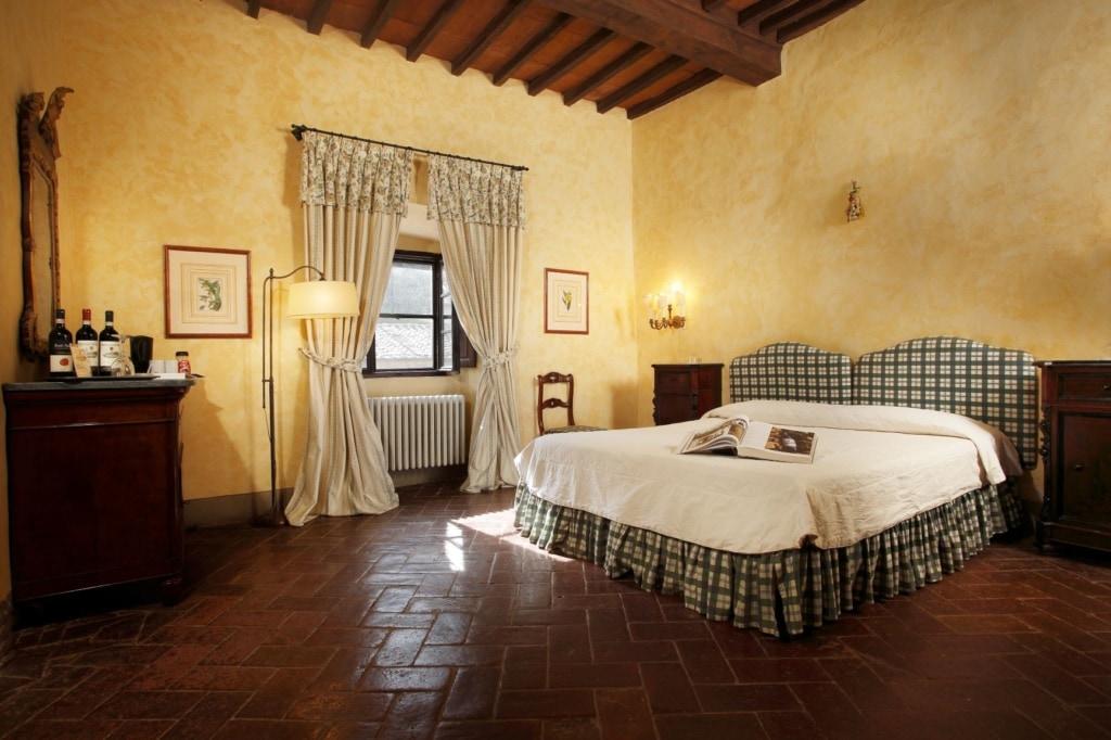 Weingüter in der Toskana: Schlafzimmer im Badia a Coltibuono