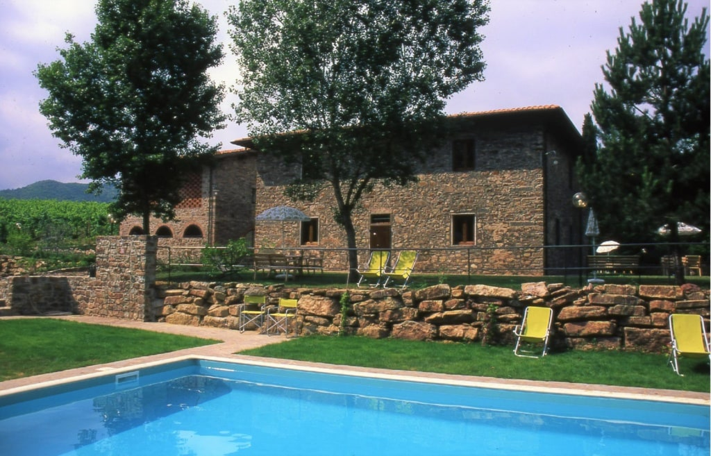 Pool im Castello di Querceto