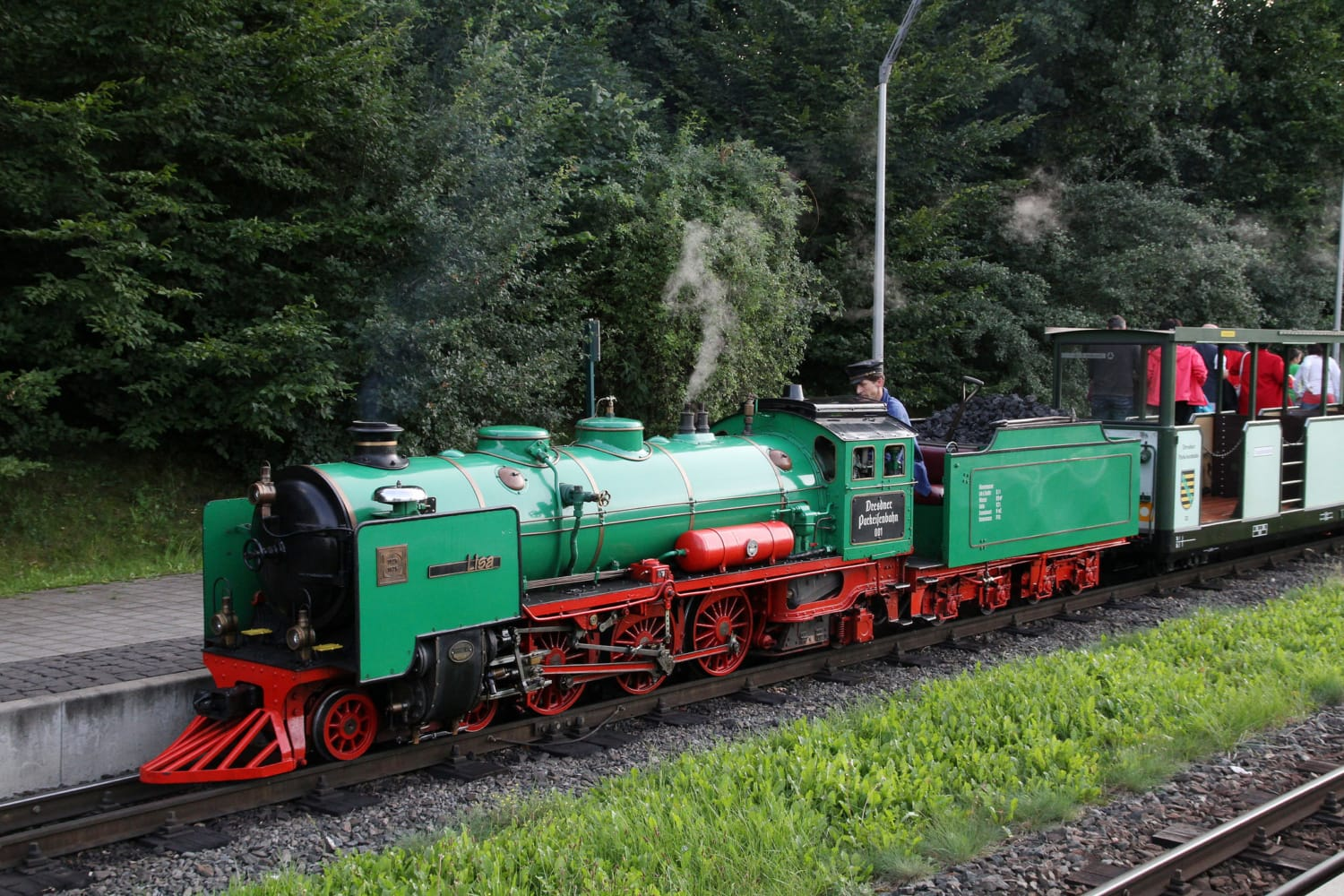 Alte Lokomotive in Park