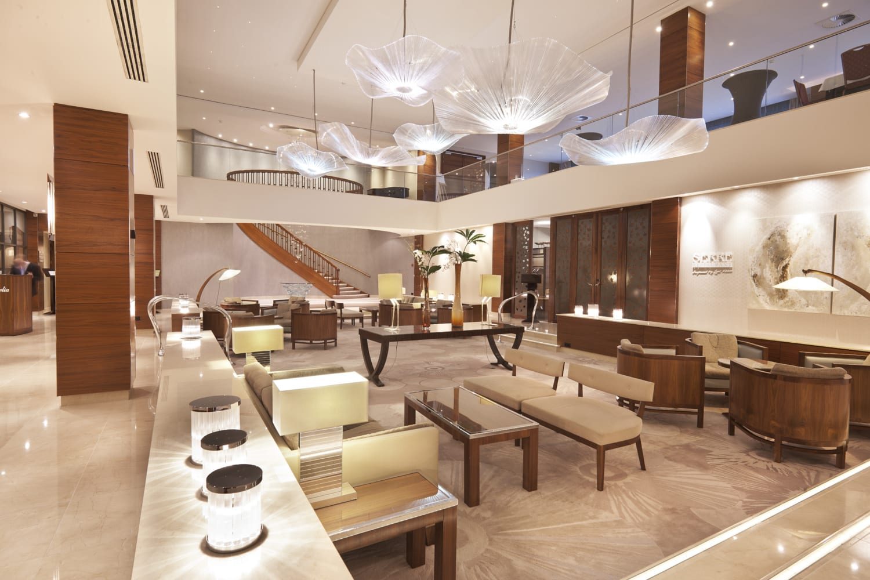 Japanisch anehauchte Lobby eines Hotels