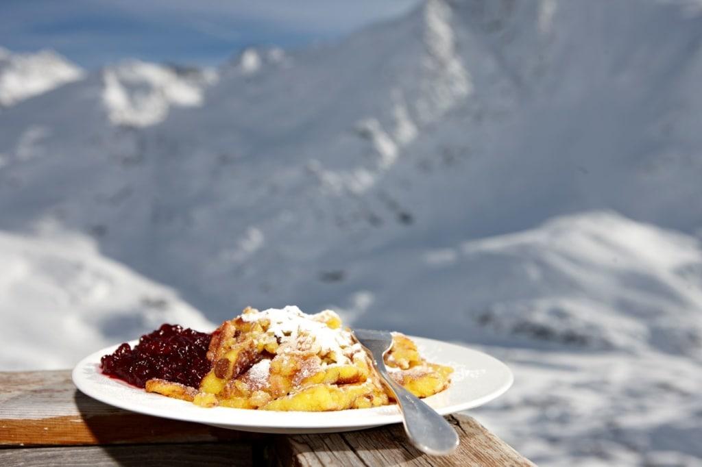 Kaiserschmarrn auf der Schützhütte Schöne Aussicht in Südtirol