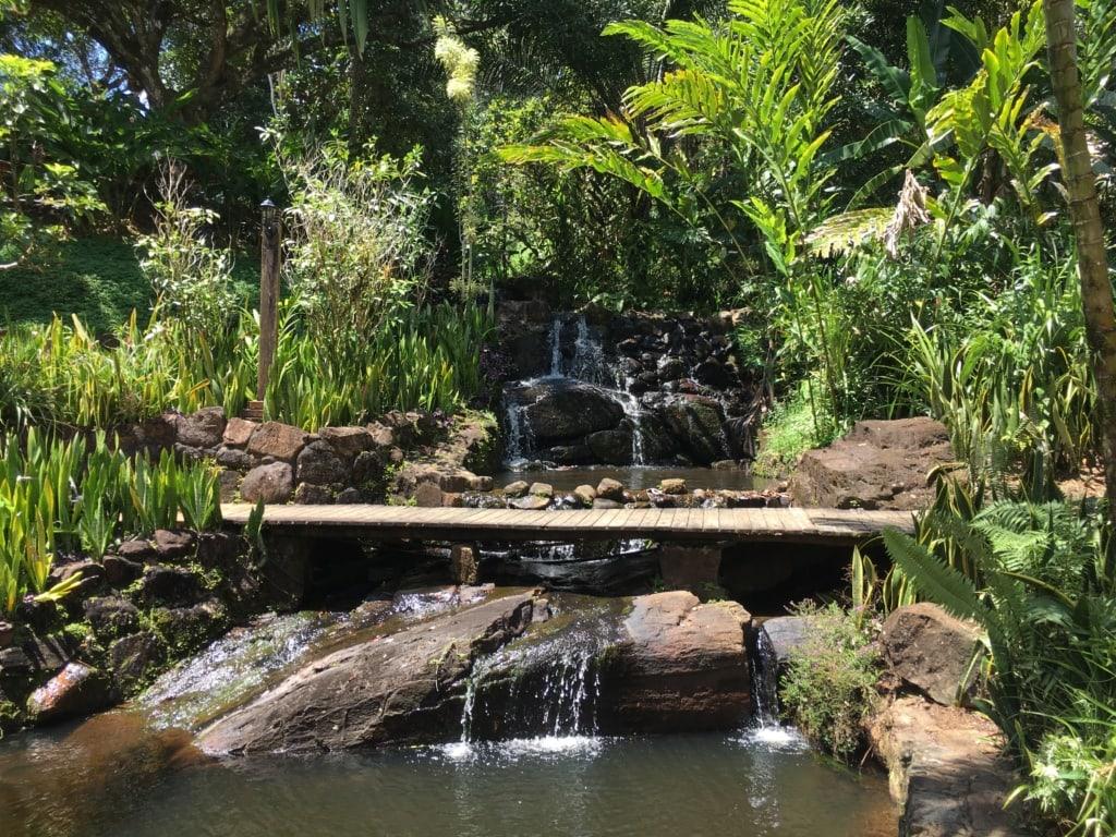 Kleiner Wasserfall in der Fazenda Vila Rosa