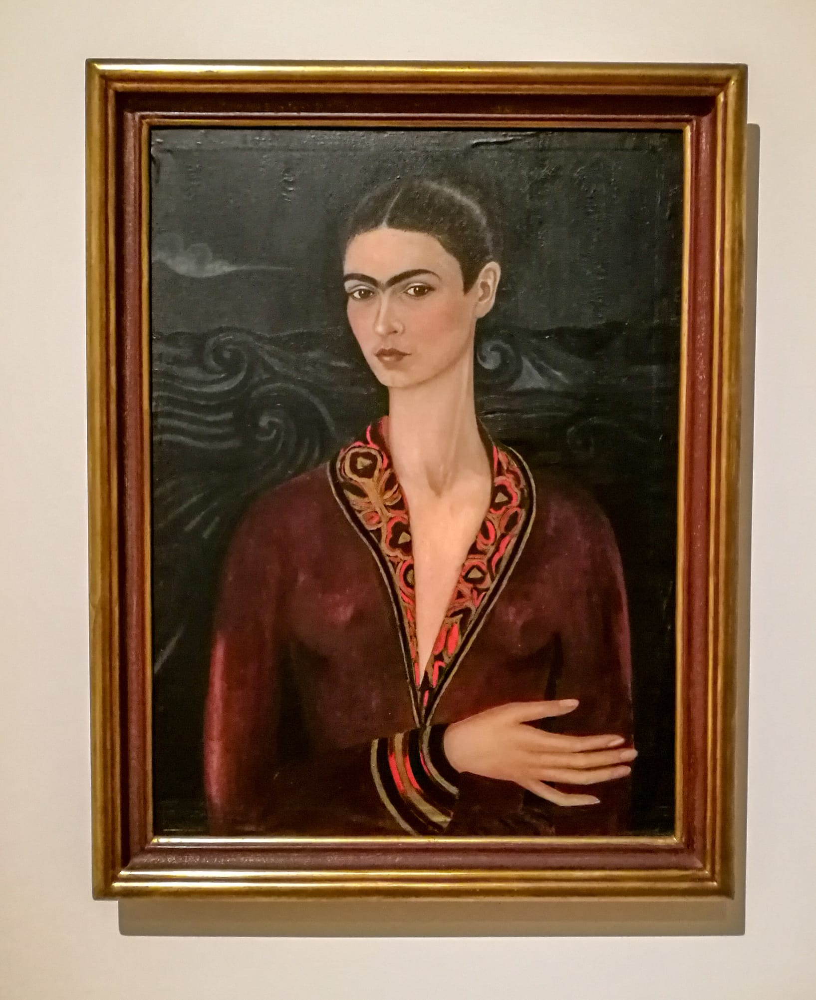 Selbstbildnis der Frida Kahlo in Museum