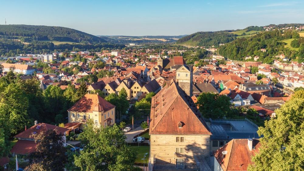 Panorama-Blick auf Kronach