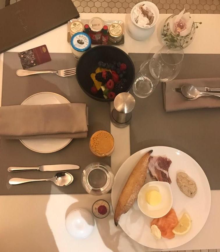 Essen im Mandarin Oriental Paris