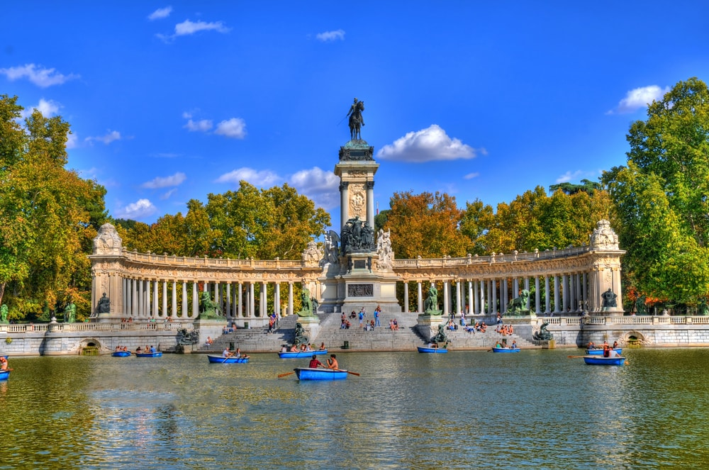 Parque Retiro in Madrid