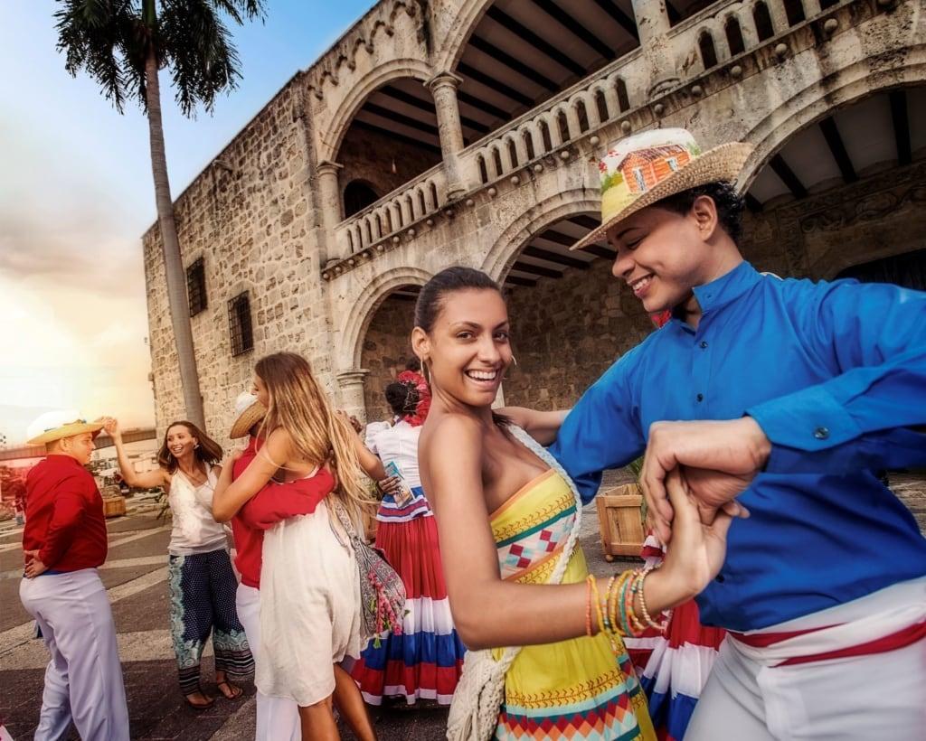 Merengue-Tänzer in Santo Domingo