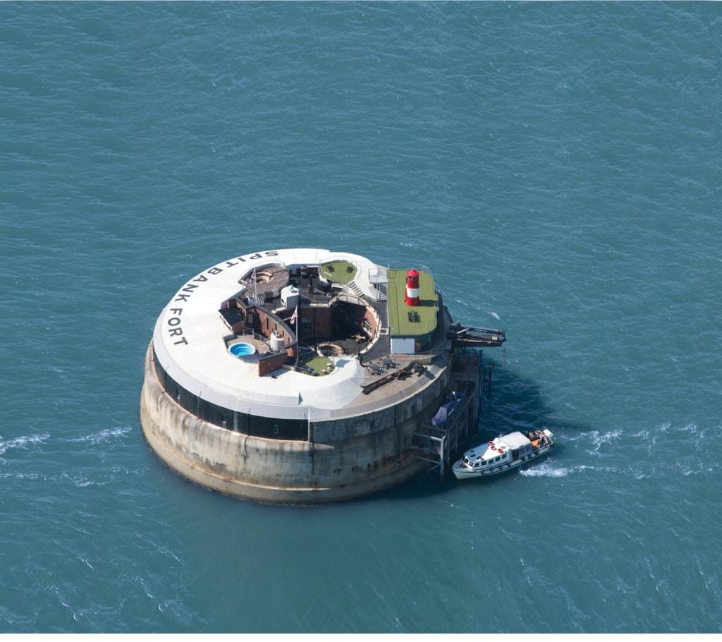 Spitbank Fort aus der Luft