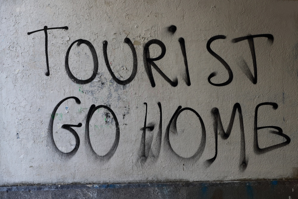 Tourist Go Home Graffiti