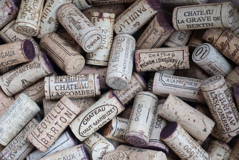 Rotweinkorken aus Bordeaux