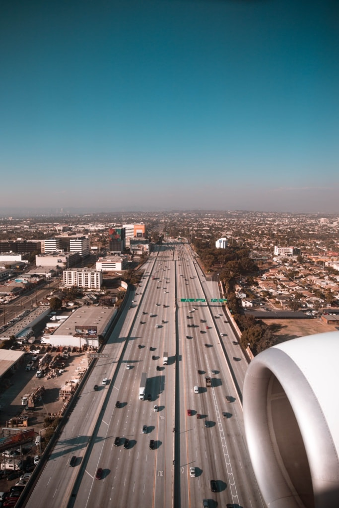 Anflug auf Los Angeles