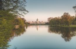 Schlosspark Charlottenburg in Berlin im Herbst