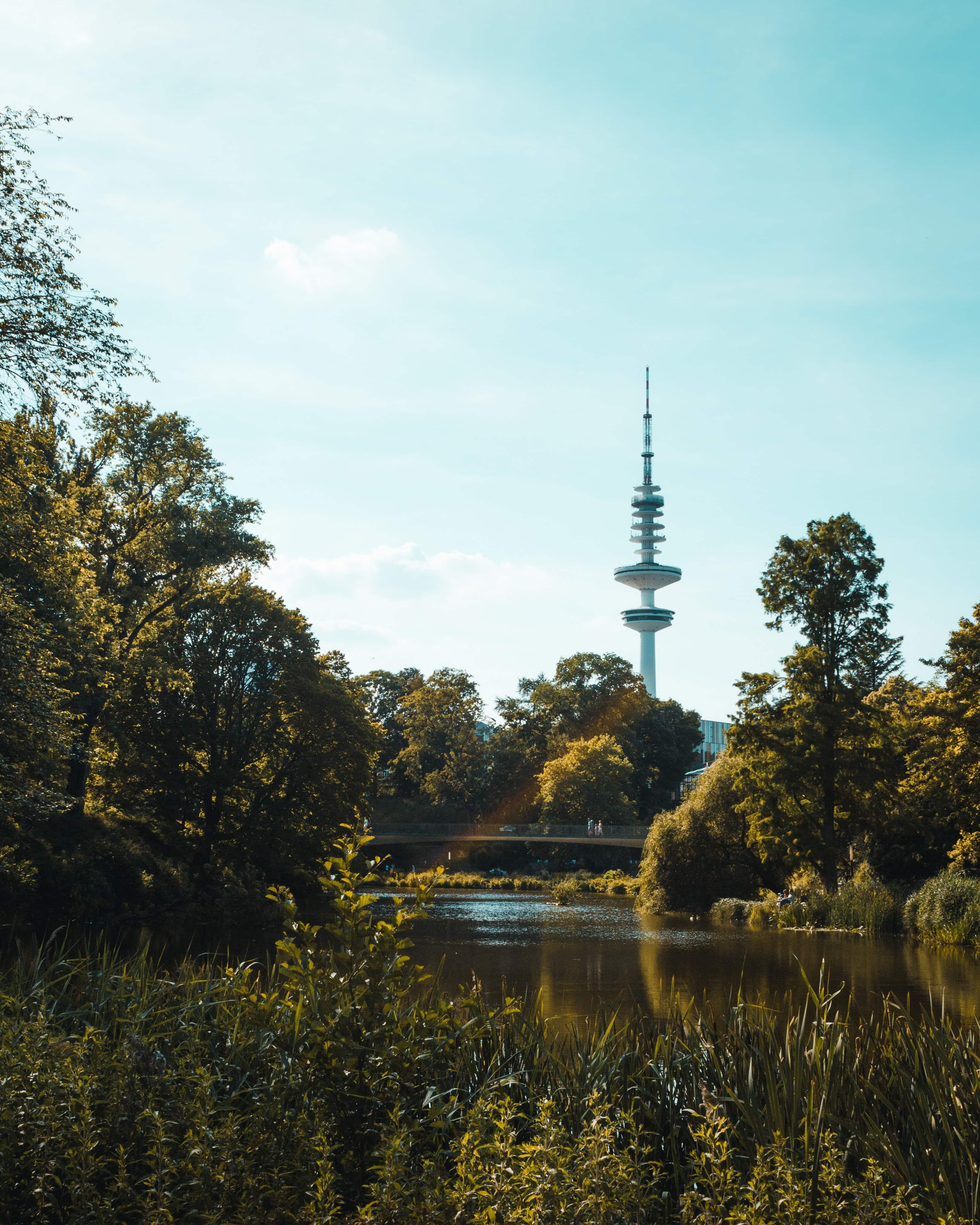 Herbstlicher Tag im Planten un Blomen Stadtpark in Hamburg