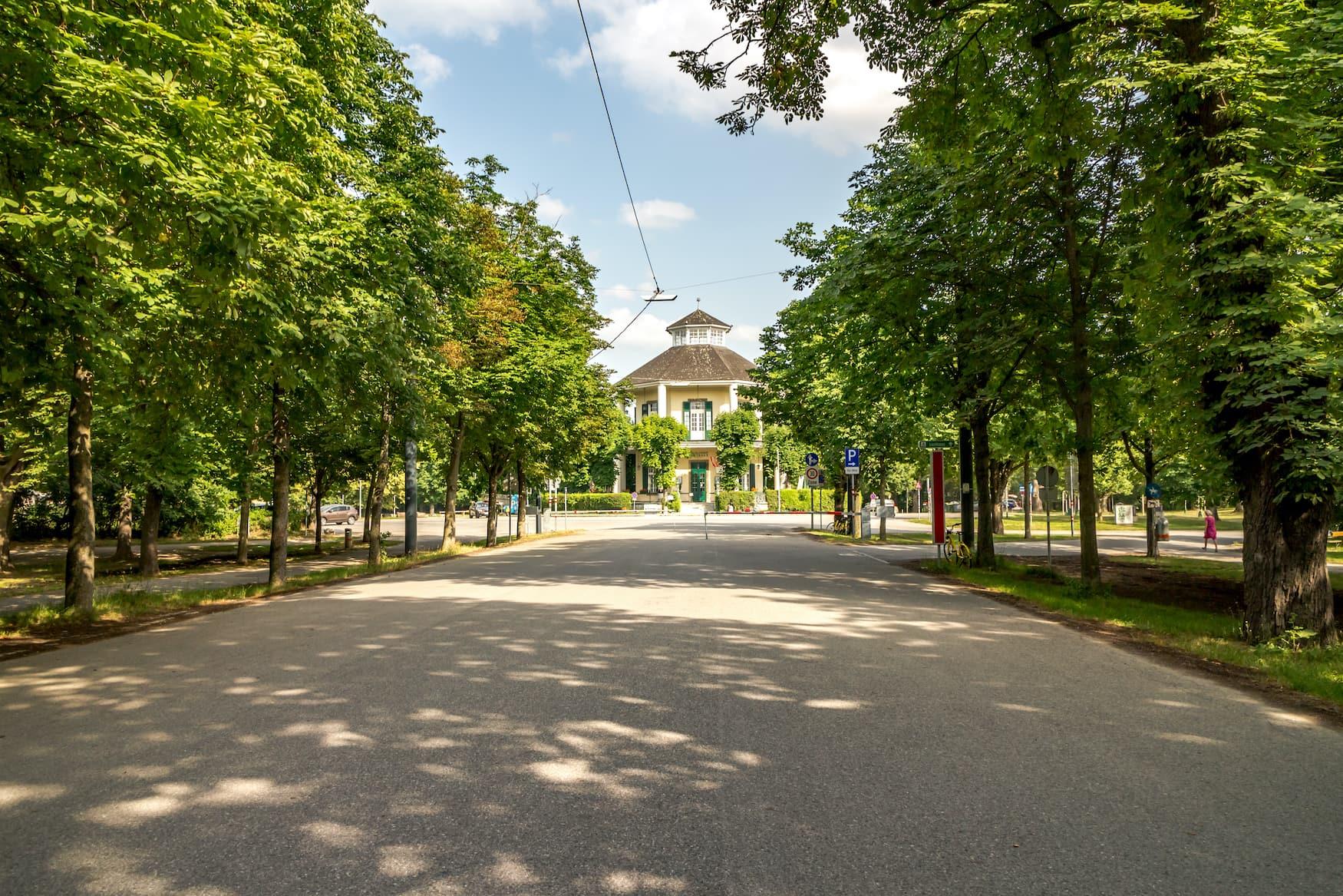 Lusthaus am Ende der Prater Allee in Wien