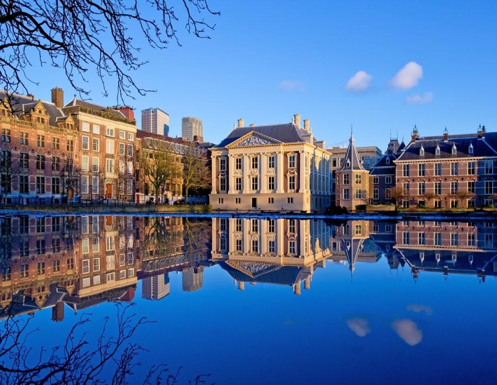 Hofteich,Binnenhof und Mauritshuis in Den Haag